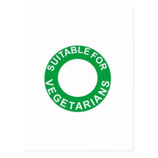 Conveniente para los vegetarianos tarjetas postales