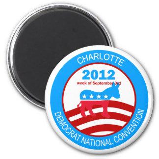 Convenio 2012 de Charlotte Demócrata Imán Redondo 5 Cm
