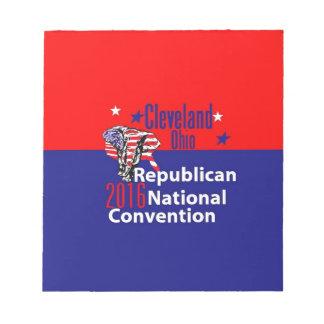 Convenio 2016 del republicano bloc de notas