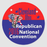 Convenio 2016 del republicano pegatina redonda