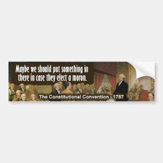 Convenio constitucional pegatina para auto