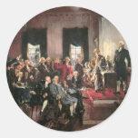 Convenio constitucional pegatina redonda