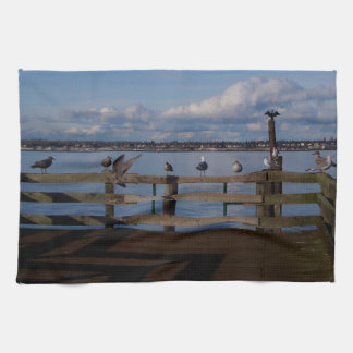 Convenio del ave marina toalla de cocina