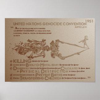 Convenio del genocidio de la O.N.U: Artículo 2 (19 Posters