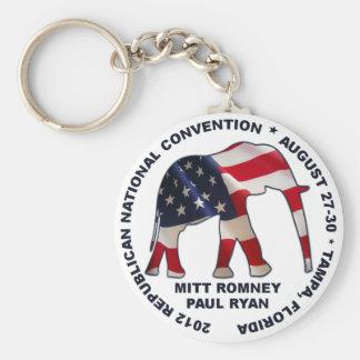 Convenio del GOP - Romney Ryan - Tampa Llavero Redondo Tipo Pin