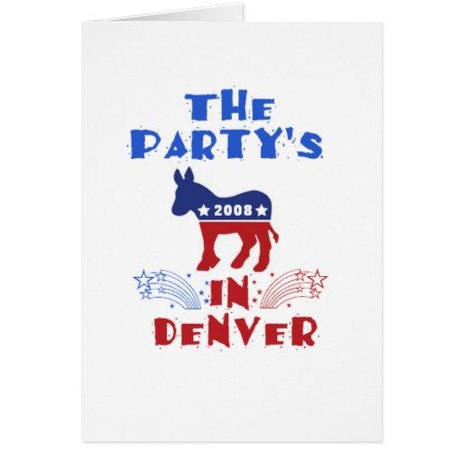Convenio nacional Democratic Denver 2008 Colorad Tarjeton