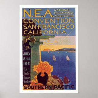 Convenio San Francisco 1911 de la educación Poster