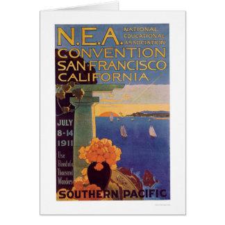 Convenio San Francisco 1911 de la educación Tarjeta De Felicitación