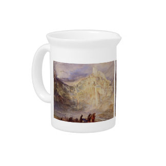 Convent of Santa Saba by William Turner Beverage Pitchers