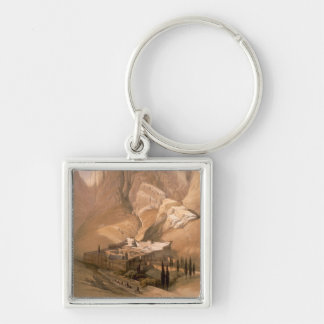 Convent of St. Catherine with Mount Horeb, Februar Keychain