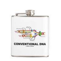 Conventional DNA Molecular Biology Humor Hip Flask