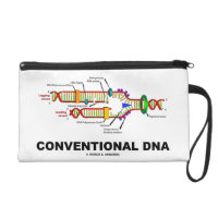 Conventional DNA Molecular Biology Humor Wristlet Purses