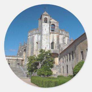 Convento de Cristo Pegatina Redonda