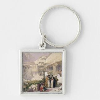 Convento de St. Catherine, monte Sinaí, el 17 de f Llavero Cuadrado Plateado