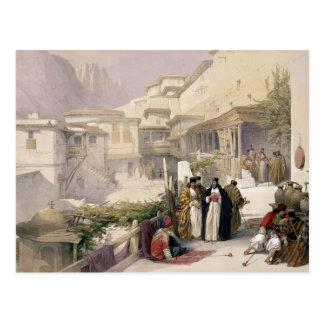Convento de St. Catherine, monte Sinaí, el 17 de Tarjetas Postales
