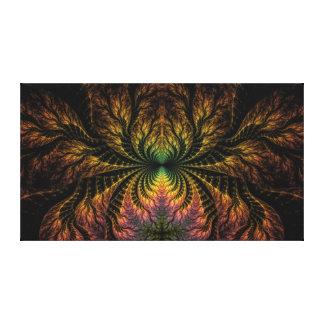 Convergencia del fractal en la lona envuelta (los  lienzo envuelto para galerías