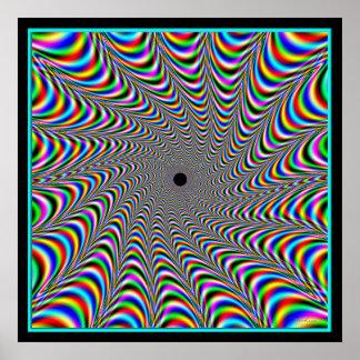 Convergencia vibrante de los colores póster