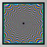 Convergencia vibrante de los colores posters