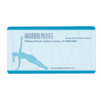 Convergent Lines Pilates Shipping Label