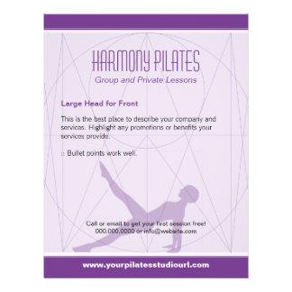 Convergent Lines Purple Pilates Flyers