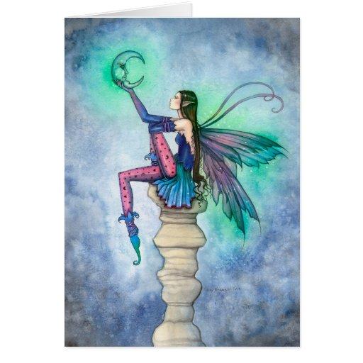 Conversación con el arte de hadas de la fantasía tarjeta de felicitación