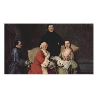 Conversación en la familia de Pietro Longhi Tarjetas Personales