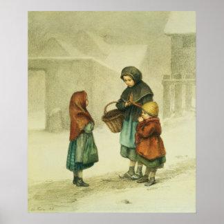 Conversación en la nieve póster