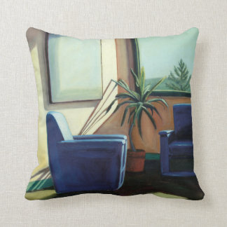 Conversation 2002 throw pillow