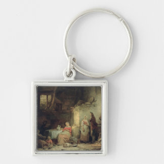 Conversation after the Meal, 1840 Keychain