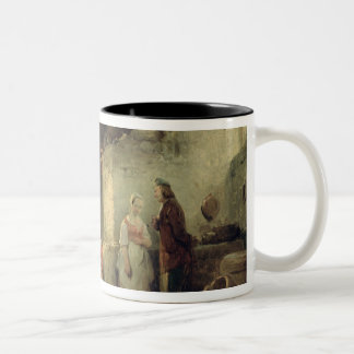 Conversation after the Meal, 1840 Two-Tone Coffee Mug