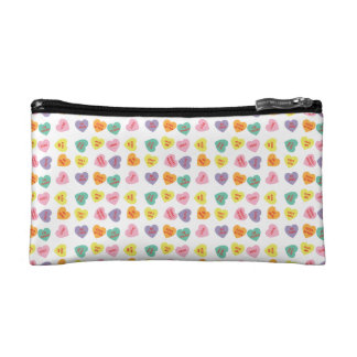 Conversation Candy Hearts Cosmetic Bag
