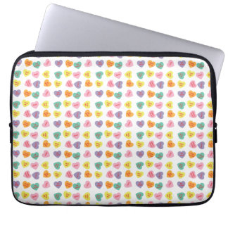 Conversation Candy Hearts Laptop Sleeve