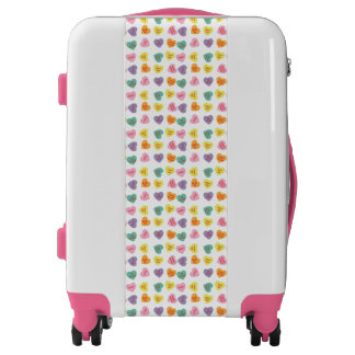Conversation Candy Hearts Luggage Bag