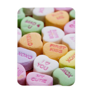 Conversation Candy Hearts Rectangular Photo Magnet