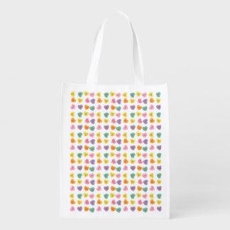 Conversation Candy Hearts Reusable Bag