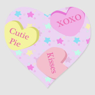 Conversation Candy Hearts Stickers