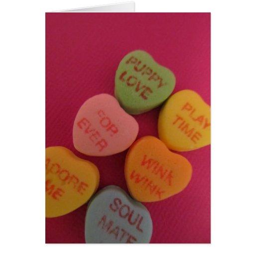 Conversation Hearts 2 Card