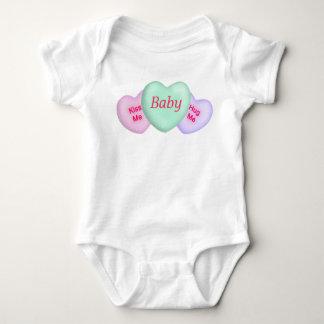 Conversation Hearts & Custom Center Infant Creeper