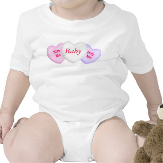 Conversation Hearts & Custom Center Infant Creeper Bodysuits