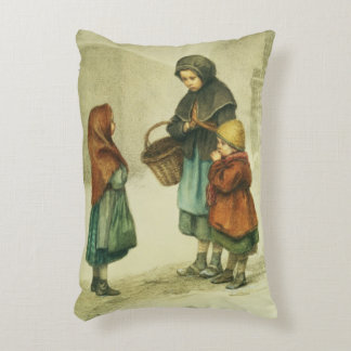 Conversation in the Snow Decorative Pillow