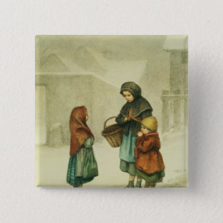 Conversation in the Snow Pinback Button
