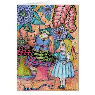 Conversation With A Caterpillar Card