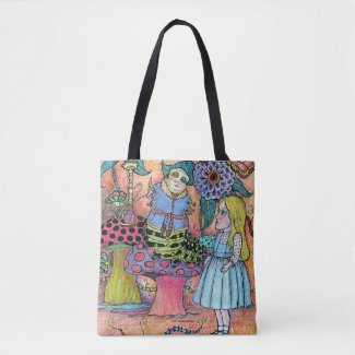 Conversation With A Caterpillar Tote Bag
