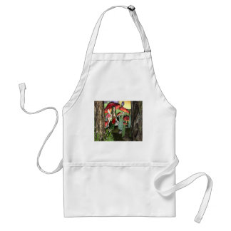 Conversation with lady bug adult apron