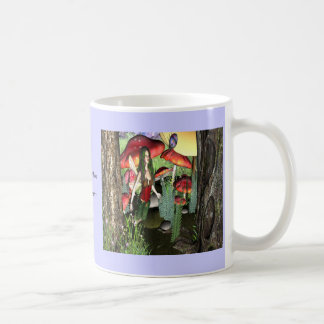 Conversation with lady bug coffee mug