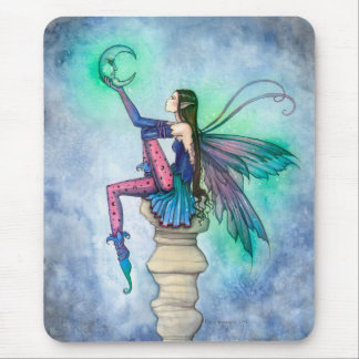 Conversation with the Moon Fairy Fantasy Art Mouse Pad