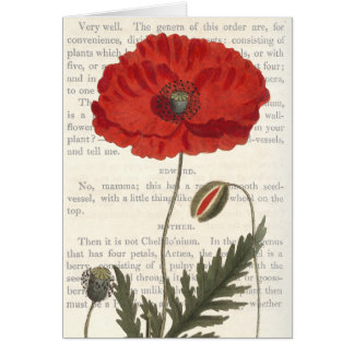 Conversations on Botany - The Common Poppy Greeting Card