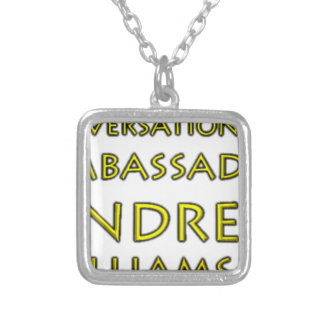 Conversations w/Ambassador Andrew Williams Jr. Silver Plated Necklace