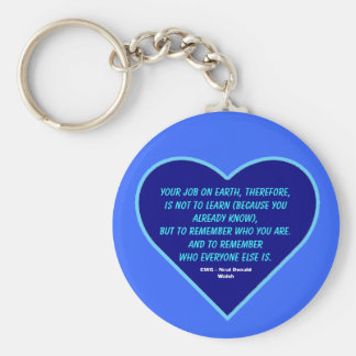 Conversations With God Quote ~ Your Job... Keychain