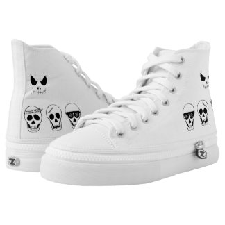 Converse white with caritas of skulls High-Top sneakers